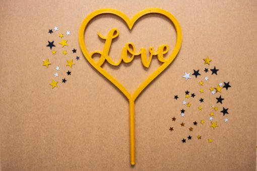 toppers para pasteles love